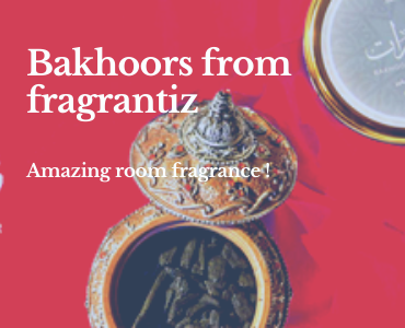 Bakhoors from fragrantiz for amazing freshness!
