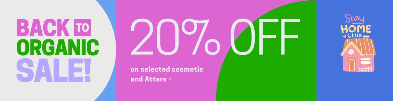 banner fragrantiz organic items 20% discount